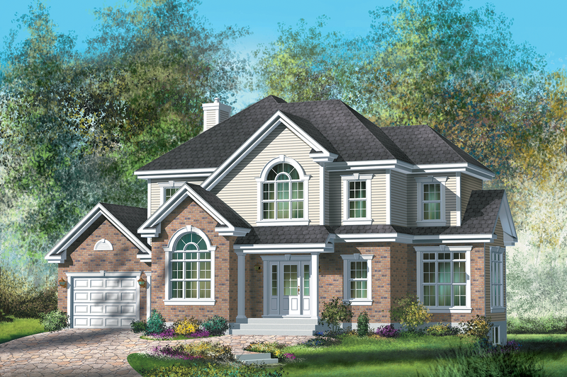 Traditional Style House Plan - 3 Beds 2 Baths 2130 Sq/Ft Plan #25-4716 Exterior - Front Elevation