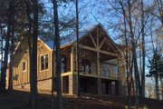 Cabin Style House Plan - 2 Beds 2 Baths 2033 Sq/Ft Plan #932-123 Exterior - Rear Elevation