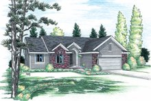 Home Plan Design - Traditional Exterior - Front Elevation Plan #20-111