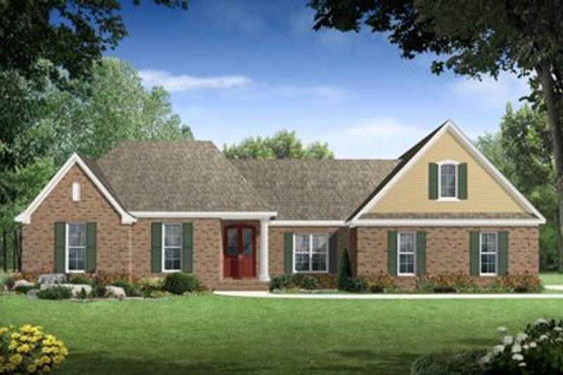 Traditional Exterior - Front Elevation Plan #21-210 - Houseplans.com