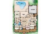 Beach Style House Plan - 4 Beds 3.5 Baths 3020 Sq/Ft Plan #27-446 Floor Plan - Main Floor Plan