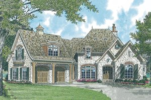 European Exterior - Front Elevation Plan #453-34