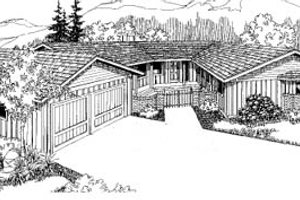 Ranch Exterior - Front Elevation Plan #60-116
