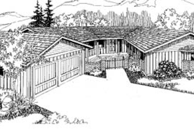 Dream House Plan - Ranch Exterior - Front Elevation Plan #60-116