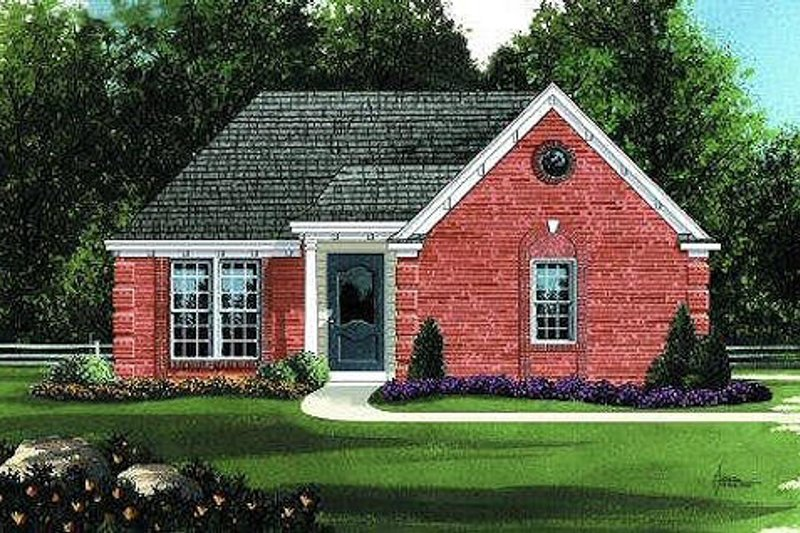 Traditional Style House Plan - 3 Beds 2 Baths 1074 Sq/Ft Plan #424-240