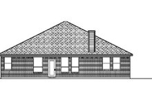 Home Plan - Traditional Exterior - Rear Elevation Plan #84-366