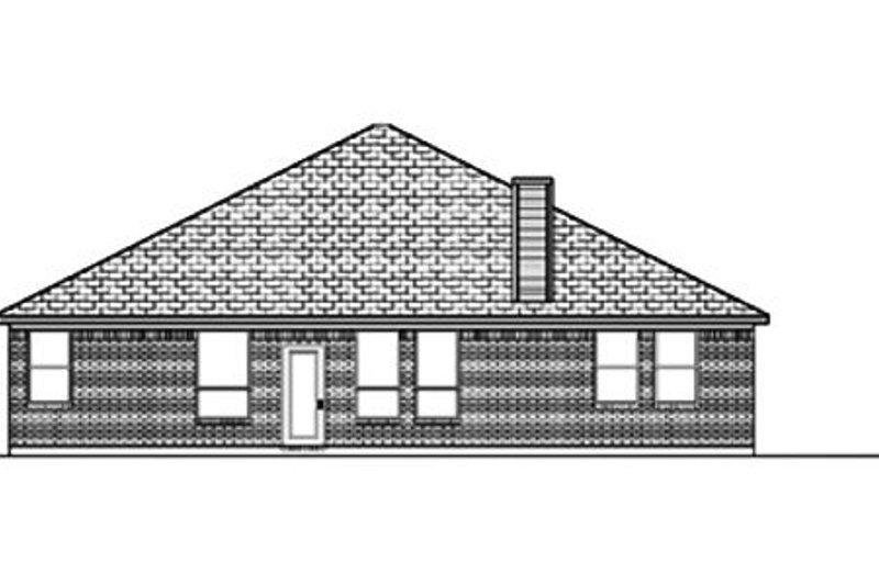Traditional Exterior - Rear Elevation Plan #84-366 - Houseplans.com