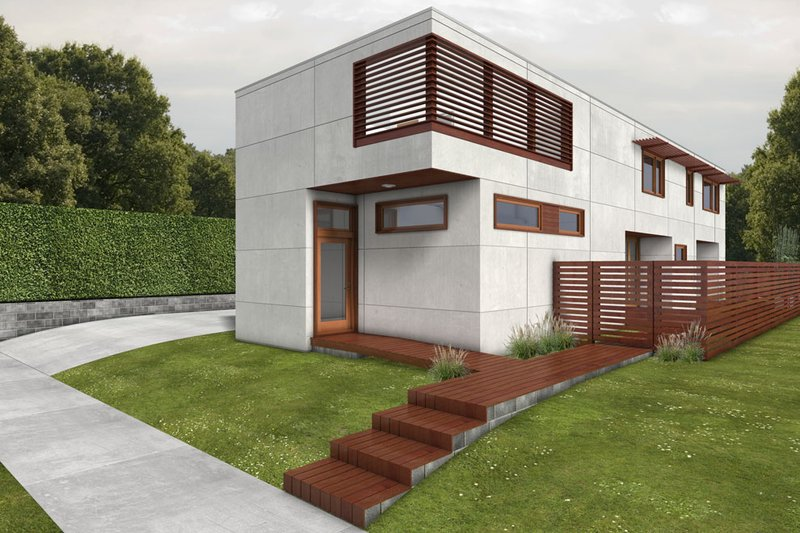 House Blueprint - Modern Exterior - Front Elevation Plan #497-53