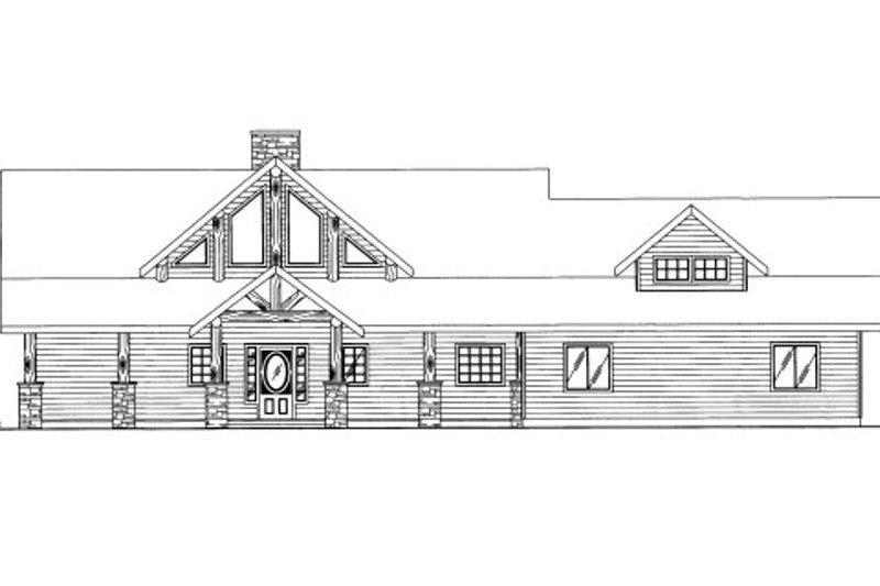 Cabin Style House Plan - 3 Beds 2.5 Baths 2077 Sq/Ft Plan #117-766 Exterior - Front Elevation