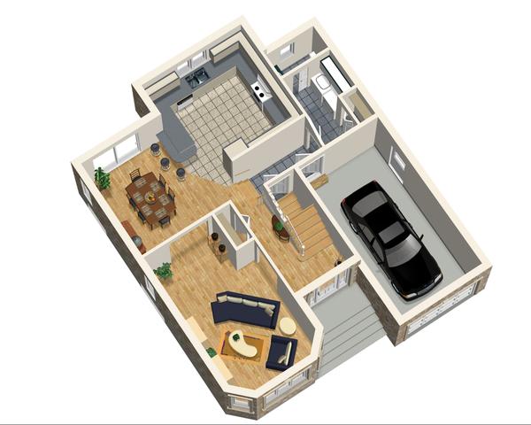European Floor Plan - Main Floor Plan Plan #25-4474