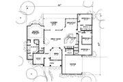 European Style House Plan - 4 Beds 2.5 Baths 2404 Sq/Ft Plan #472-12 Floor Plan - Main Floor Plan