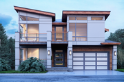 Contemporary Style House Plan - 4 Beds 4 Baths 3896 Sq/Ft Plan #1066-31 Exterior - Front Elevation