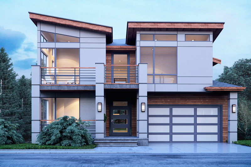 Architectural House Design - Contemporary Exterior - Front Elevation Plan #1066-31