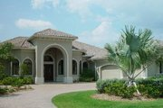 Mediterranean Style House Plan - 4 Beds 4.5 Baths 3650 Sq/Ft Plan #27-229 Exterior - Other Elevation