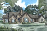 European Style House Plan - 3 Beds 2 Baths 2118 Sq/Ft Plan #17-2552 Exterior - Front Elevation