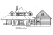 Bungalow Style House Plan - 3 Beds 2.5 Baths 1946 Sq/Ft Plan #117-539 Exterior - Rear Elevation