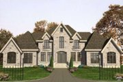 European Style House Plan - 5 Beds 3.5 Baths 3549 Sq/Ft Plan #138-136 Exterior - Front Elevation