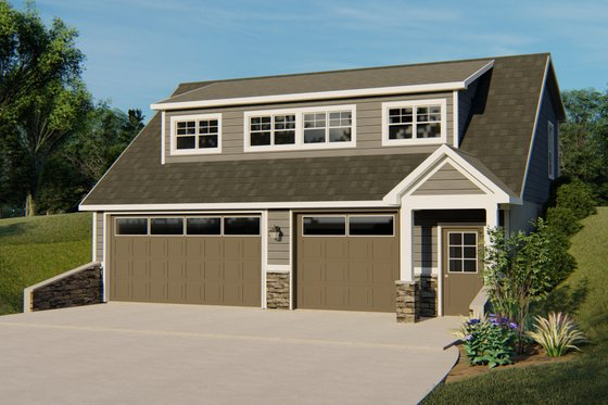 Cottage Exterior - Front Elevation Plan #1064-25