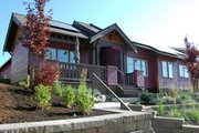 Craftsman Style House Plan - 2 Beds 2 Baths 1602 Sq/Ft Plan #895-1 Exterior - Other Elevation
