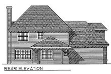 Dream House Plan - Traditional Exterior - Rear Elevation Plan #70-329