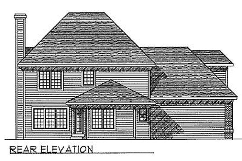 Traditional Exterior - Rear Elevation Plan #70-329 - Houseplans.com