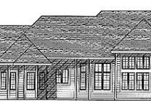 European Exterior - Rear Elevation Plan #70-417
