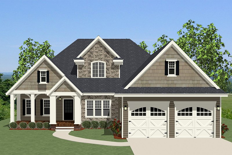 Traditional Exterior - Front Elevation Plan #898-13 - Houseplans.com