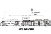 Home Plan - European Exterior - Rear Elevation Plan #310-649