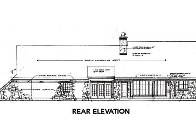 European Exterior - Rear Elevation Plan #310-649 - Houseplans.com