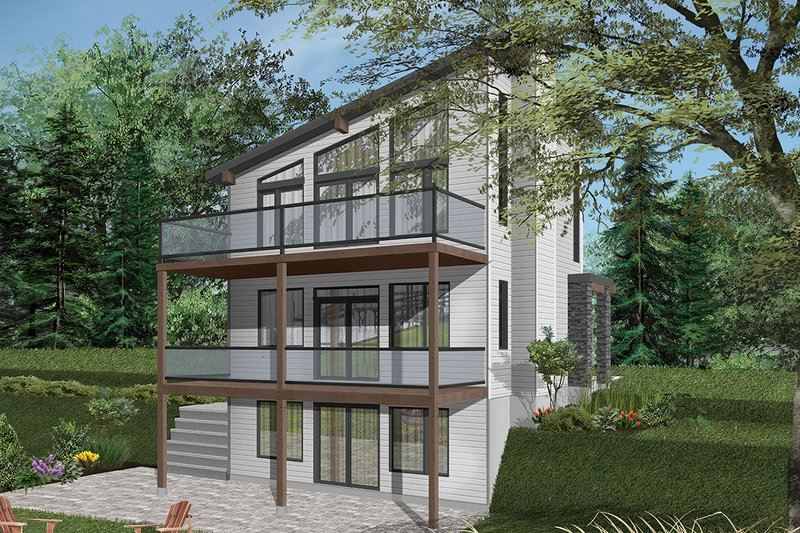 Contemporary Style House Plan - 2 Beds 1 Baths 1344 Sq/Ft Plan #23-2660