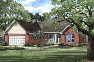 Traditional Exterior - Front Elevation Plan #17-134