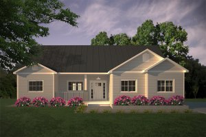 Architectural House Design - Simple Country Home Elevation