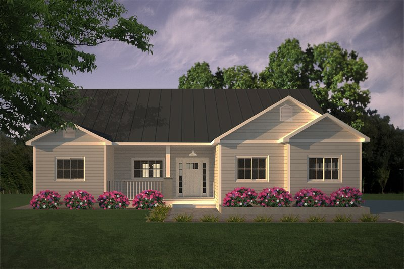 House Plan Design - Simple Country Home Elevation