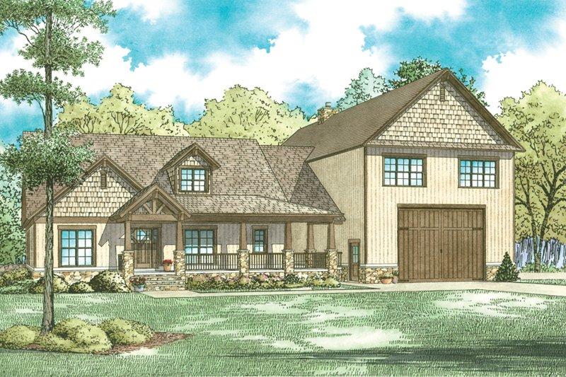 Home Plan - Craftsman Exterior - Front Elevation Plan #17-3429