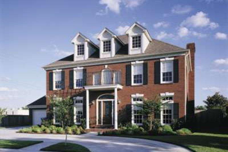 Colonial Exterior - Front Elevation Plan #410-400 - Houseplans.com