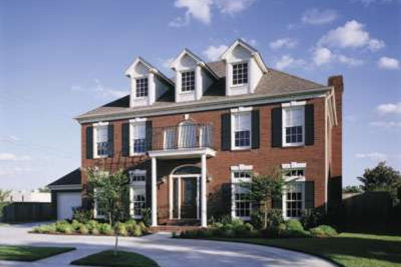 Colonial Exterior - Front Elevation Plan #410-400
