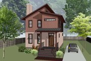 Modern Style House Plan - 3 Beds 2.5 Baths 1487 Sq/Ft Plan #79-293 Exterior - Front Elevation