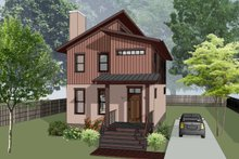 Dream House Plan - Modern Exterior - Front Elevation Plan #79-293