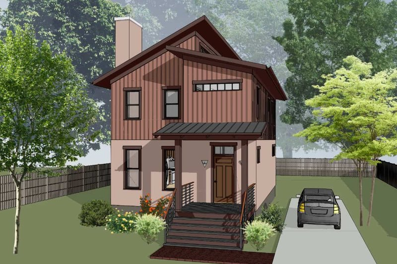 Architectural House Design - Modern Exterior - Front Elevation Plan #79-293
