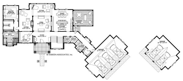 Traditional Floor Plan - Main Floor Plan Plan #928-329