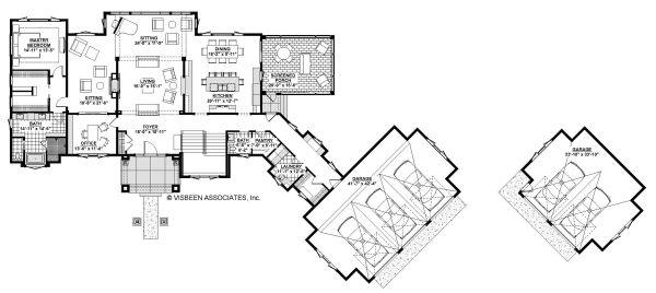 Architectural House Design - Traditional Floor Plan - Main Floor Plan #928-329