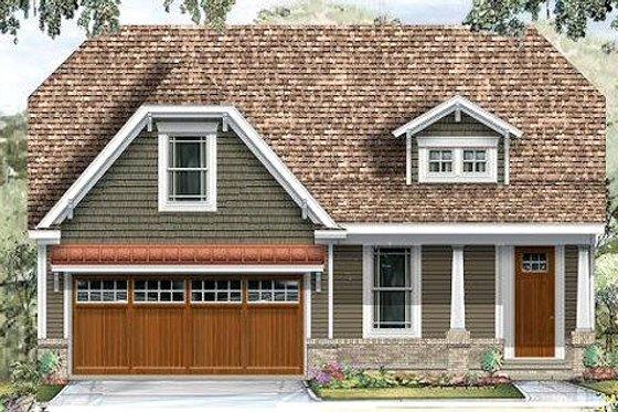 Craftsman Exterior - Front Elevation Plan #424-191