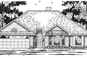 Traditional Style House Plan - 3 Beds 2 Baths 1649 Sq/Ft Plan #42-239 Exterior - Front Elevation