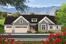 Architectural House Design - Ranch Exterior - Front Elevation Plan #70-1193