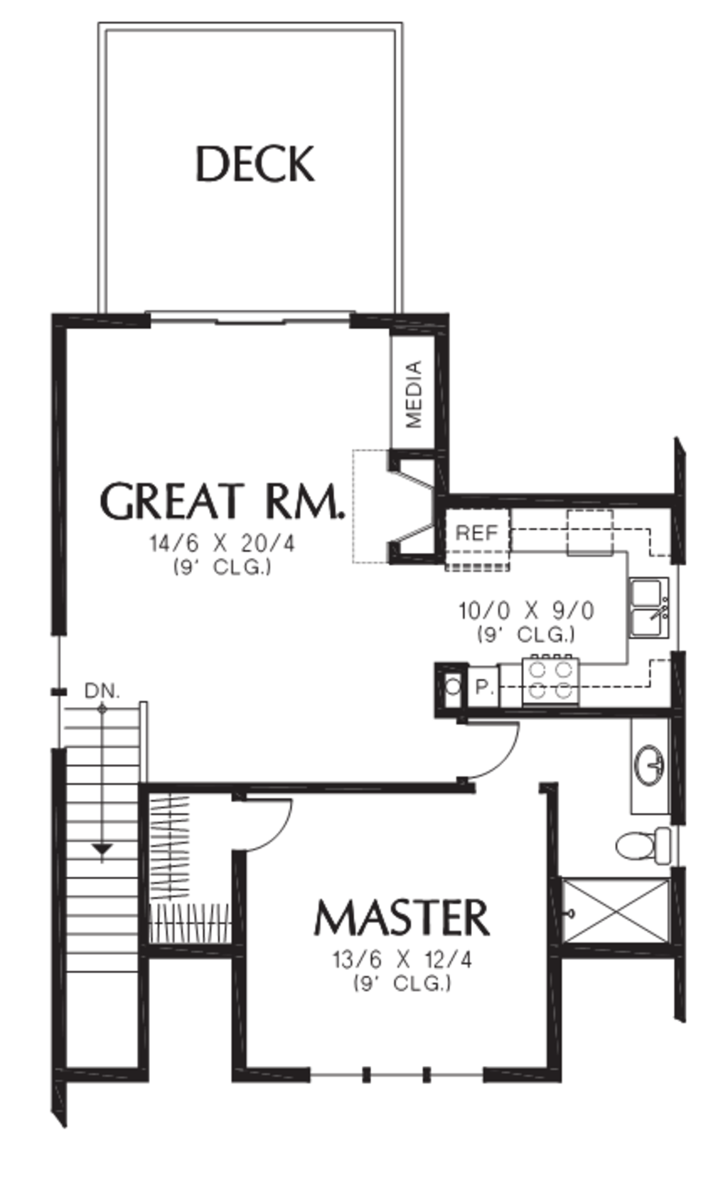 Cottage style house plan 3 beds 2 baths 1384 sq ft plan 48