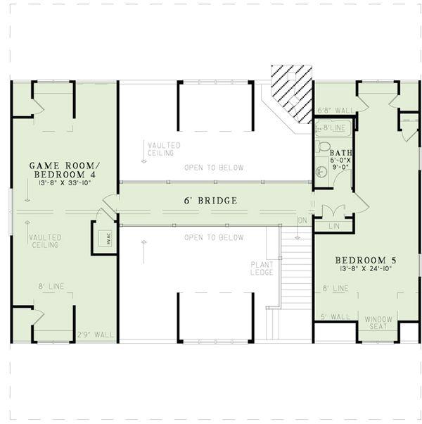 Country Floor Plan - Upper Floor Plan Plan #17-2512
