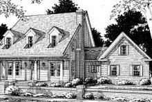 House Design - Country Exterior - Front Elevation Plan #20-318
