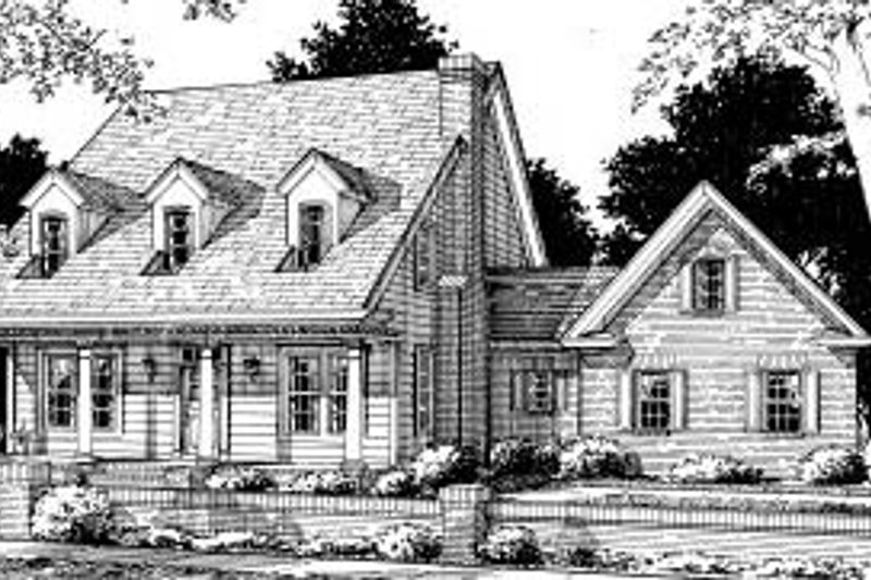 Country Exterior - Front Elevation Plan #20-318