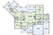 Craftsman Style House Plan - 4 Beds 3 Baths 3345 Sq/Ft Plan #17-2443 Floor Plan - Main Floor Plan