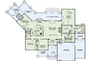 Craftsman Style House Plan - 4 Beds 3 Baths 3345 Sq/Ft Plan #17-2443 Floor Plan - Main Floor